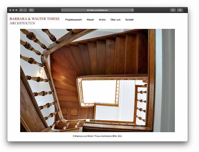Website der Thiess Architekten